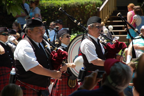 Bagpipers, after