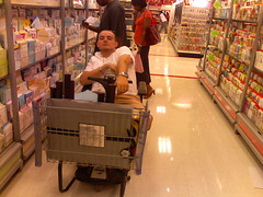 brad pimping the go-cart cart at target.