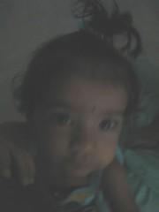 How do you like my hair tied up in a bunch.jpg (S Jagadish) Tags: bangalore amma satish appa thatha paati 200503 200504 jaagruthi royalpalms janu jagadish krithi santhanam chitappa