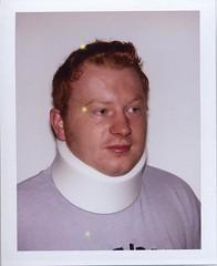Bad Neck (Luke Stephenson) Tags: portrait neck polaroid ginger hurt collar ging injured bigshot
