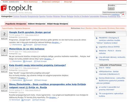 Lietuviskas Digg klonas - Topix.lt