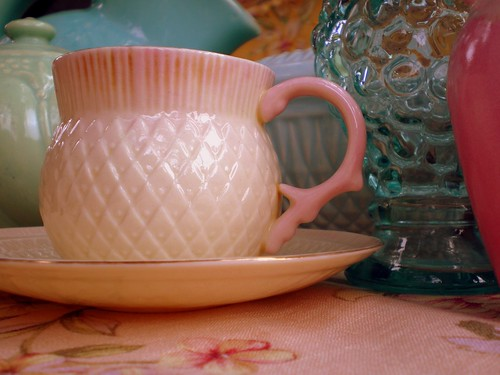 Belleek Thistle Tea Cup