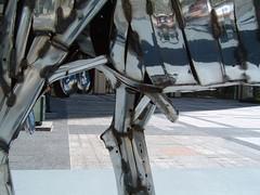 Metal Moose is Male! (tvindy) Tags: sculpture chicago art statue metal illinois moose pioneercourt genitals genitalia johnkearney