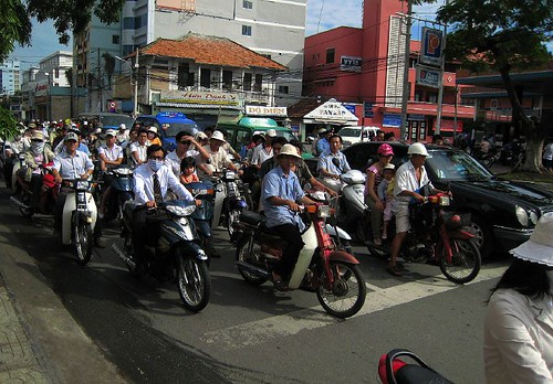 Moto traffic in HCMC