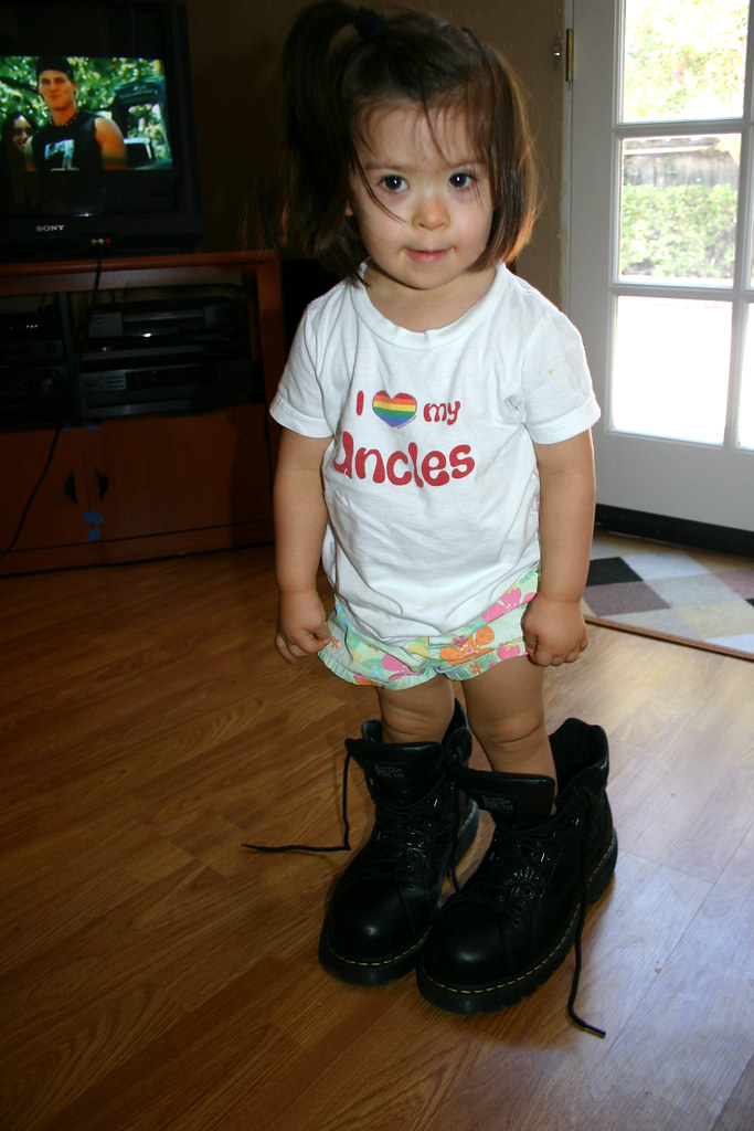 Sofia Standing In Her Doc Martens