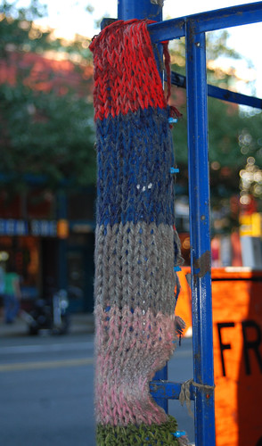 Knitting on the street