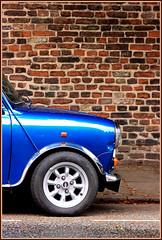Cambridge Mini Minimalism: Blue (Sir Cam) Tags: cambridge england car mini minimalism minimalistic jesuslane aplusphoto fiveflickrfavs