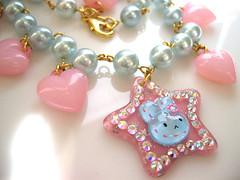 pastel star & hearts necklace (Cicely Margo) Tags: glitter jewelry sparkle plastic glam eyecandy cicelymargo