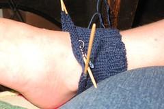 Em's Blue Sock Cuff