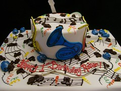 Music-themed Birthday Cake