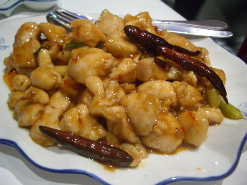 Szechwan chicken at Post Deng Cafe