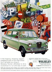 Hopping & Shopping : Mini with a Bottom (daviddb) Tags: mini hornet bmc wolseley mkiii wcar