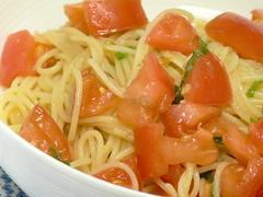 冷製トマトスパゲティ 醤油風味
