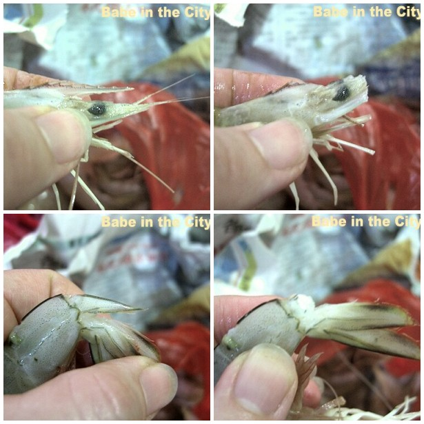 How to remove sharp parts of a prawn