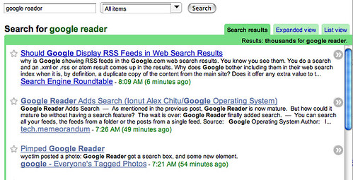 Google Reader Search