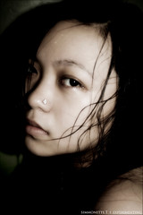 Rain ( Simmy) Tags: portrait woman dark asian moody sad emo breathtaking supershot 25faves noseringthefeminine