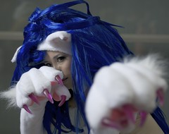 Dark Stalkers (bishop002700) Tags: japan felicia tokyo costume cosplay 2007 tokyogameshow darkstalkers