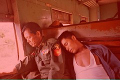 Hope you sleep well, Mr. General! (krismo_pompas) Tags: red burma protest 2007 freeburma redforfreeburma
