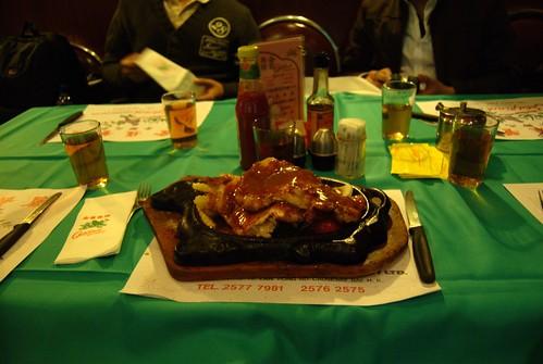 金雀餐廳的雞扒餐