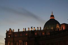 Santi al tramonto (Kilkenny79) Tags: sunset italy rome roma church italia tramonto basilica saints santi sanpietro sigma2470 eos400d yourcountry