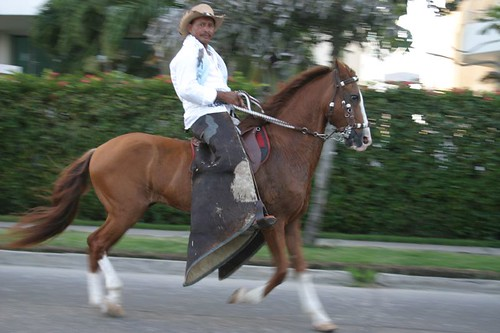Cabalgata in action in Cartagena.