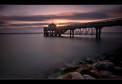 Sunrise - Port Aransas, Texas (RondaKimbrow) Tags: longexposure gulfofmexico sunrise pier texas portaransas nd110 bw110 sunsetmania pullfolio utresearchpier