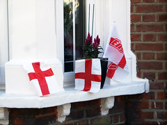 Come on England 2 (tezzer57) Tags: london window football flag stgeorge balham londonist comeonengland worldcup2010 finepixf40fd wc2010