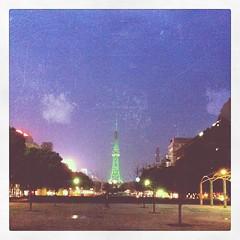 @sakae (yymkw) Tags: green tower square tv squareformat nagoya    iphoneography instagramapp uploaded:by=instagram