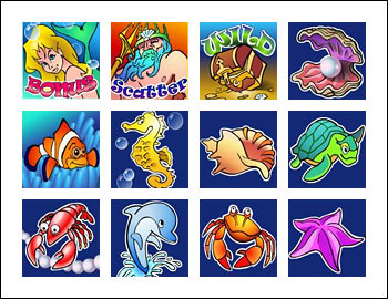 free Mermaid's Quest slot game symbols