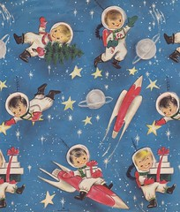 Hallmark Christmas Kids in Space (hmdavid) Tags: christmas kids children space wrap gift atomic hallmark wrappingpaper