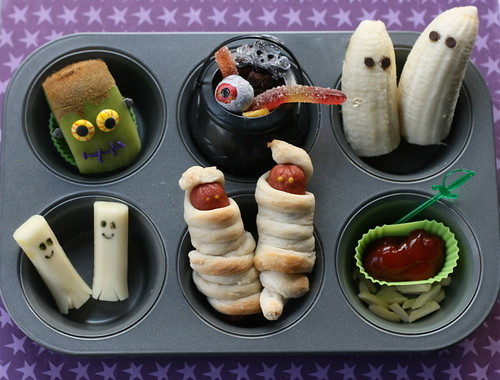 Halloween Muffin Tin Lunch