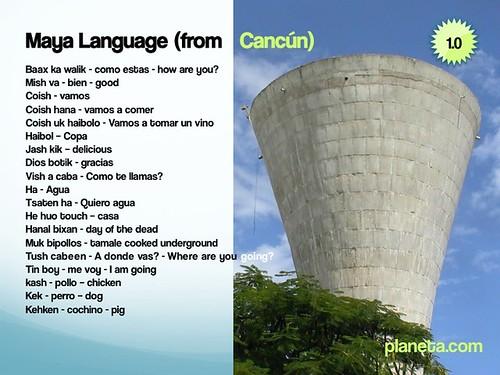 Maya Language from Cancun, Mexico