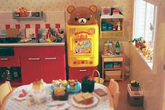 Rilakkuma fridge in the kitchen (Cyristine) Tags: bear cute mushroom japan asian toys japanese miniatures doll dolls korean kawaii rement dollhouse kuma rilakkuma ddung