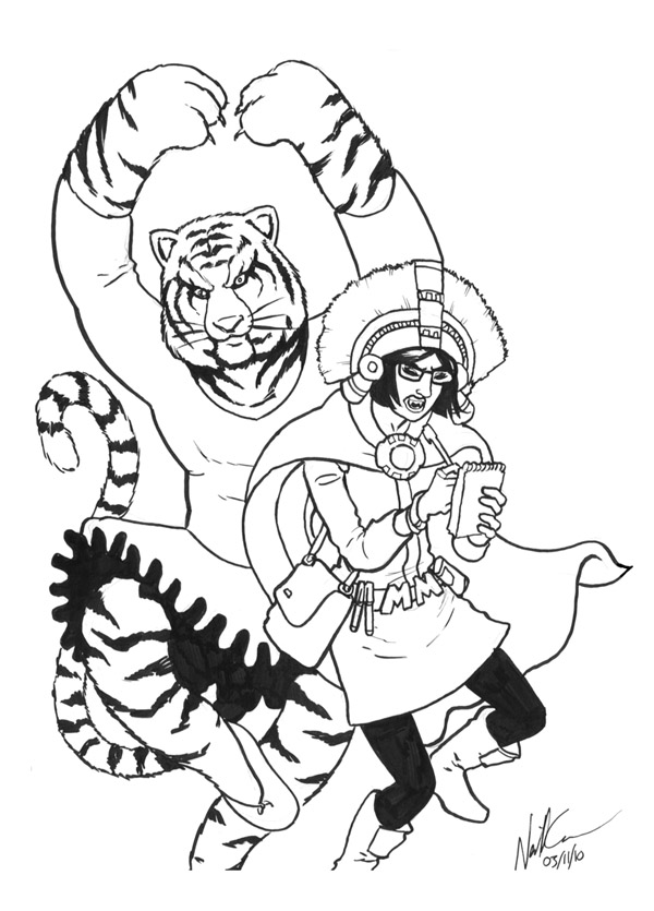 Ballerina Tiger and Aztec Journalist