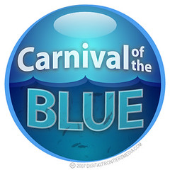 Carnival of the Blue badge (white)