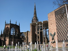 Coventry's Cathedrals - Old & new (Tracey Paterson) Tags: new old england history architecture cathedral ruin structure christianity coventry blitz