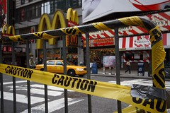 caution mc donalds ahead (photos_mweber) Tags: nyc newyork mcdonalds caution