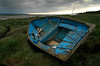 Blue boat at Heswall shore (jimmedia) Tags: blue boat shore heswall peopleschoice abigfave photology