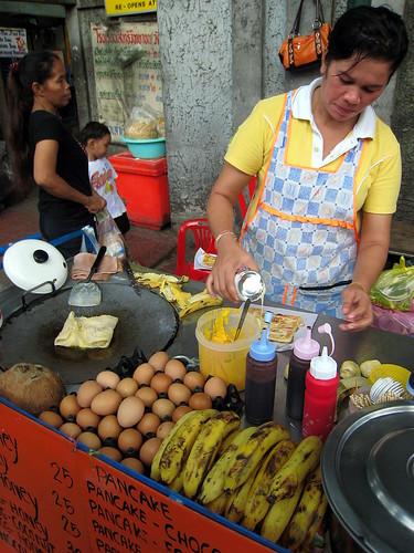 The famed banana pancake