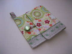 Vert Fleur Pouch - SOLD (handmadebymoi) Tags: linen sewing cotton pouch wallets