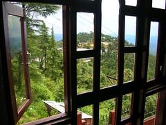 dalai lama's temple from Hotel (jannypai's pp) Tags: dharamsala ganj mcleod