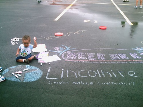 Robbie does awesome chalk art.
