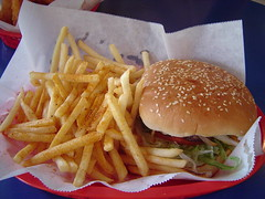 Al's Cheeseburger with Fries by CaptCuervo