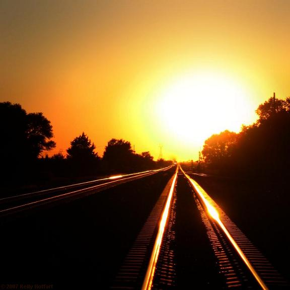 Tracks at Sunset