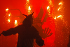 Demon and Beast (Kakadu) Tags: party night fire dance fireworks mallorca demons alaro feuerwerk dimonis
