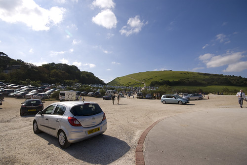 Lulworth Car Park Looking Up To Path To Durdle Door