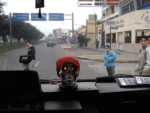 On the Bus in Lima city