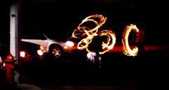 fuego en las calles V (Sarai  casi de regreso) Tags: noche esquina fuego calles malabar malabarismo