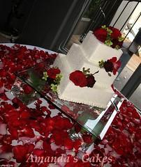 Rucks Wedding Cake Angled View (mandotts) Tags: wedding red roses cake petals crystal weddingcake sparkle rosepetals redroses bridescake