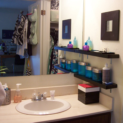 Innovative Bathroom Shelves Above Sink